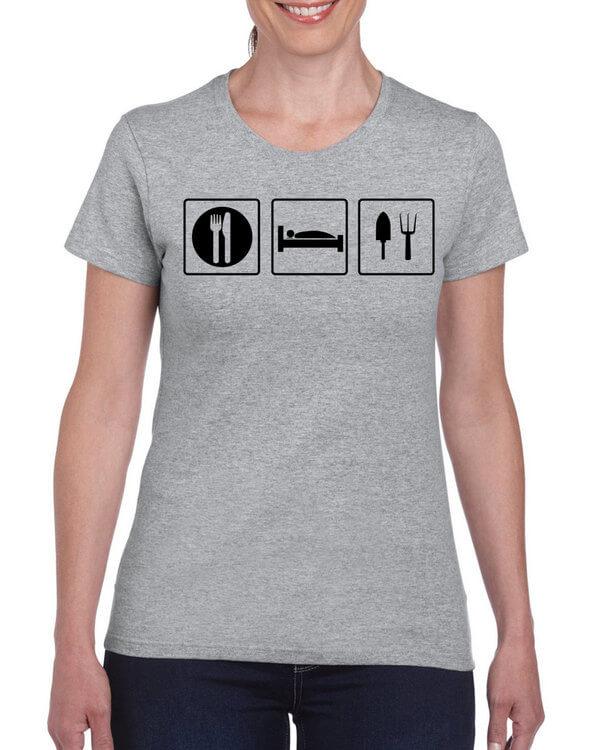 Eat Sleep Gardening T-Shirt - Gardener Shirt - Gardening T-Shirt -  (many colors + ladies + unisex + hoodie + sweatshirt available)