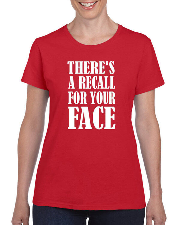 Funny Recall For Your Face Shirt - Funny Shirt - Sarcastic Shirt - Witty Shirt - Stupid Shirt - Gag Shirt - Hilarious Shirt - Awesome Shirt