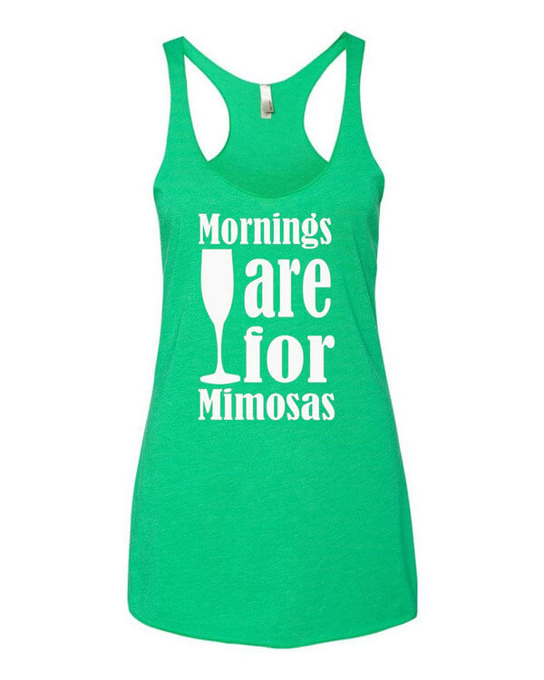 Mornings are for Mimosas Tank Top - Womens Tank Top - Ladies Racerback - Womens Racerback - Beach Tank Top - Summer Tank Top