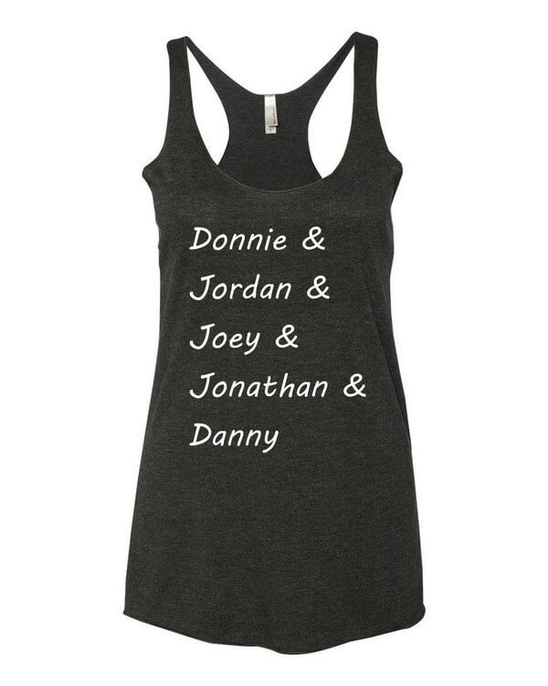 New Kids on the Block Tank Top - New Kids on the Block T-Shirt - Donnie Wahlberg - Jordan Knight - Joey McIntyre - Jonathan Knight - Danny