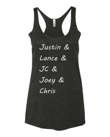 NSYNC Tank Top - NSYNC T-Shirt - Justin Timberlake - Lance Bass - JC Chasez - Joey Fatone - Chris Kirkpatrick